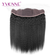 YVONNE Brazilian Kinky Straight Virgin Hair Lace Frontal 13×4 Natural Color 100% Human Hair Products Free Shipping