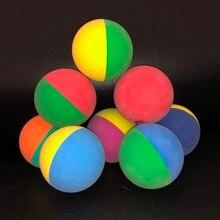 12pcs/lot 6cm Bi-color Racquet ball Squash Low Speed Rubber Hollow Ball Training Competition  High Elasticity Mix Color