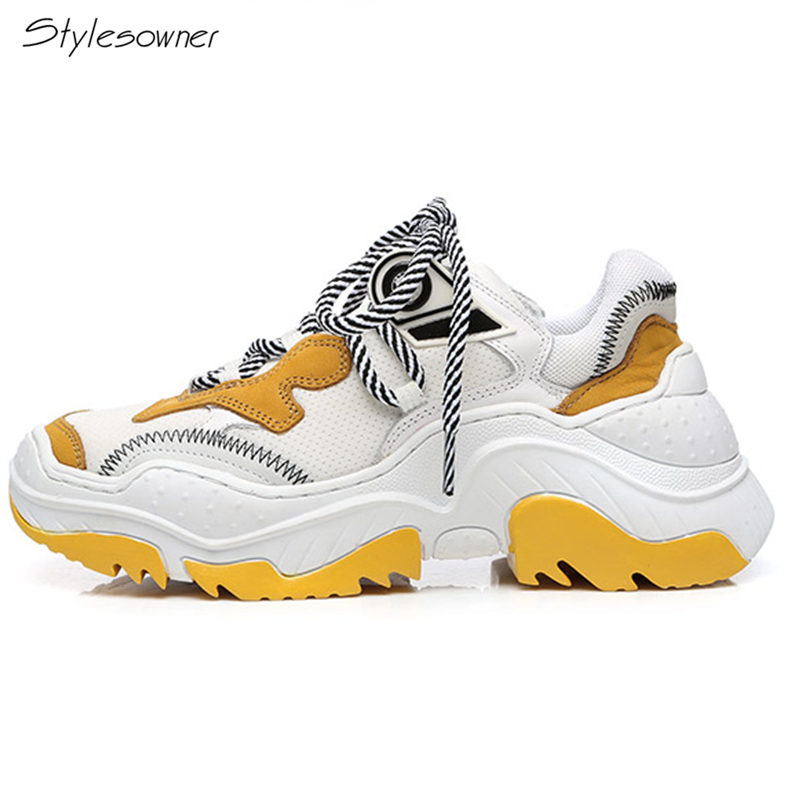 Stylesowner Women Lace Up Platform Summer Dad Sneakers New Fashion Heels Sneakers Casual Shoes Increase Height Ladies Sneakers sneakers