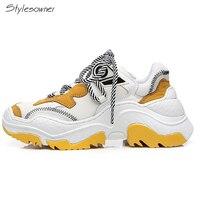Stylesowner Women Lace Up Platform Summer Dad Sneakers New Fashion Heels Sneakers Casual Shoes Increase Height Ladies Sneakers