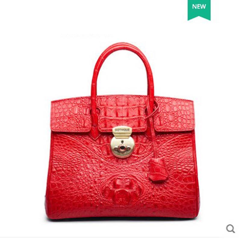 gete 2018 new crocodile skin women handbag bag Thai leather female bag single shoulder Bag Platinum Bag yuanyu 2018 new hot free shipping real thai crocodile women handbag female bag lady one shoulder women bag female bag