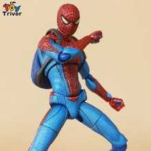 Spider man The Amazing Spiderman Figma 199 PVC Action Figure Collectible Model Toy 15cm free shipping Triver Toy