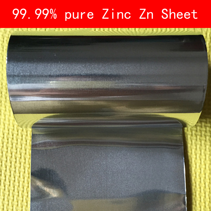 99.99% pure Zinc Sheet Zn slice Wall thickness 0.1-0.8mm for Industry lab DIY metalworking adilux zn 48 gs