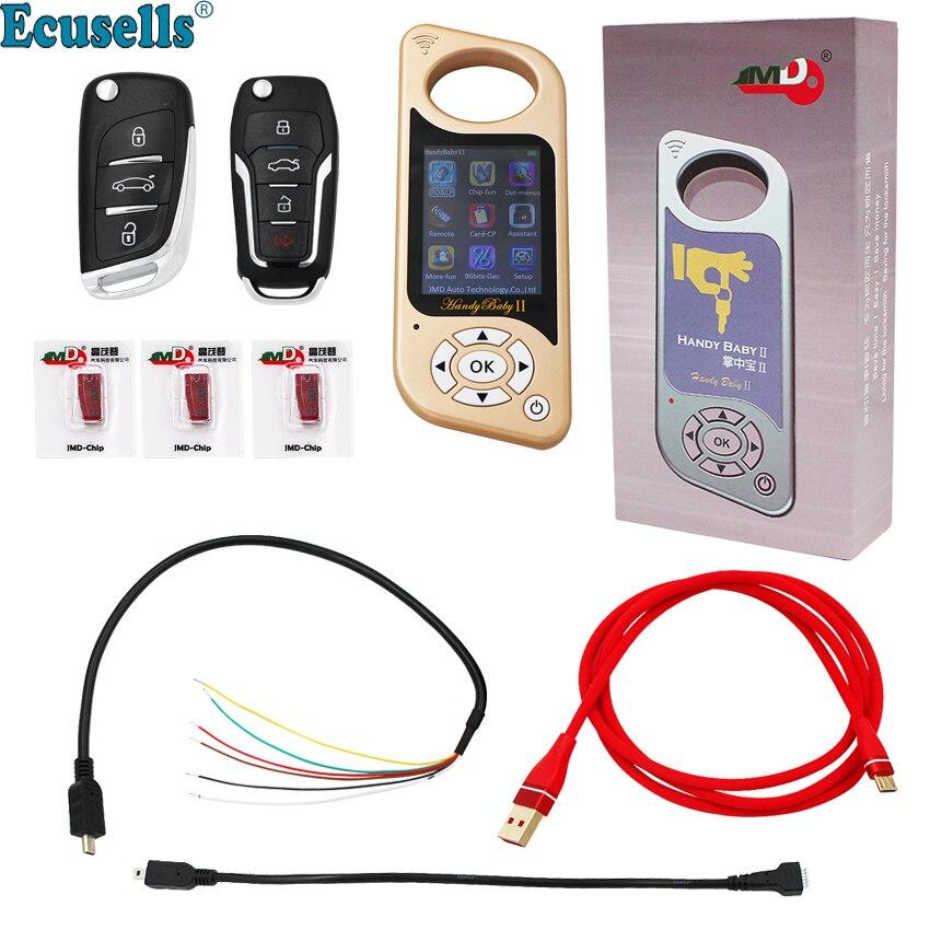 Удобный детский 2 II ключевой программист Ручные ключи прибор смартключ для 4D/46/48 фишек 96bit 48 функция английский, испанский золото
