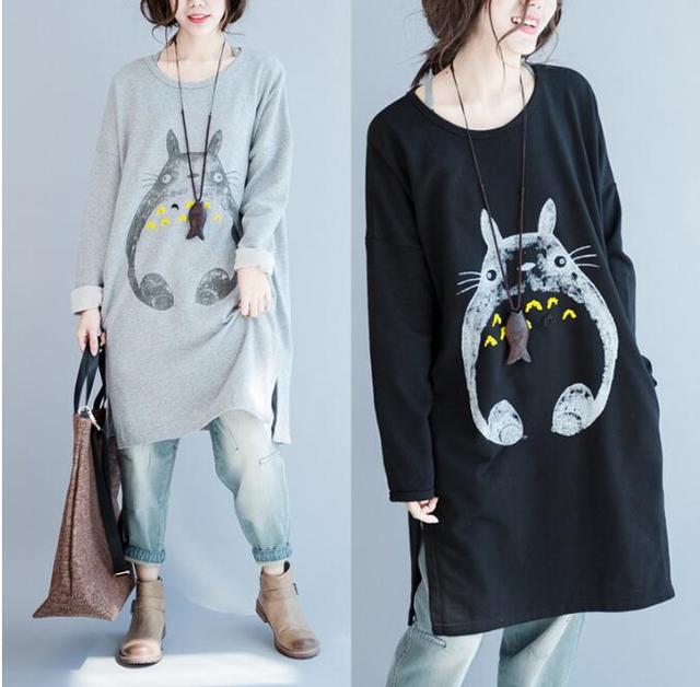 My Neighbor Totoro – 2017 Korean Style Long Totoro Sweatshirt – 2 Colors Available