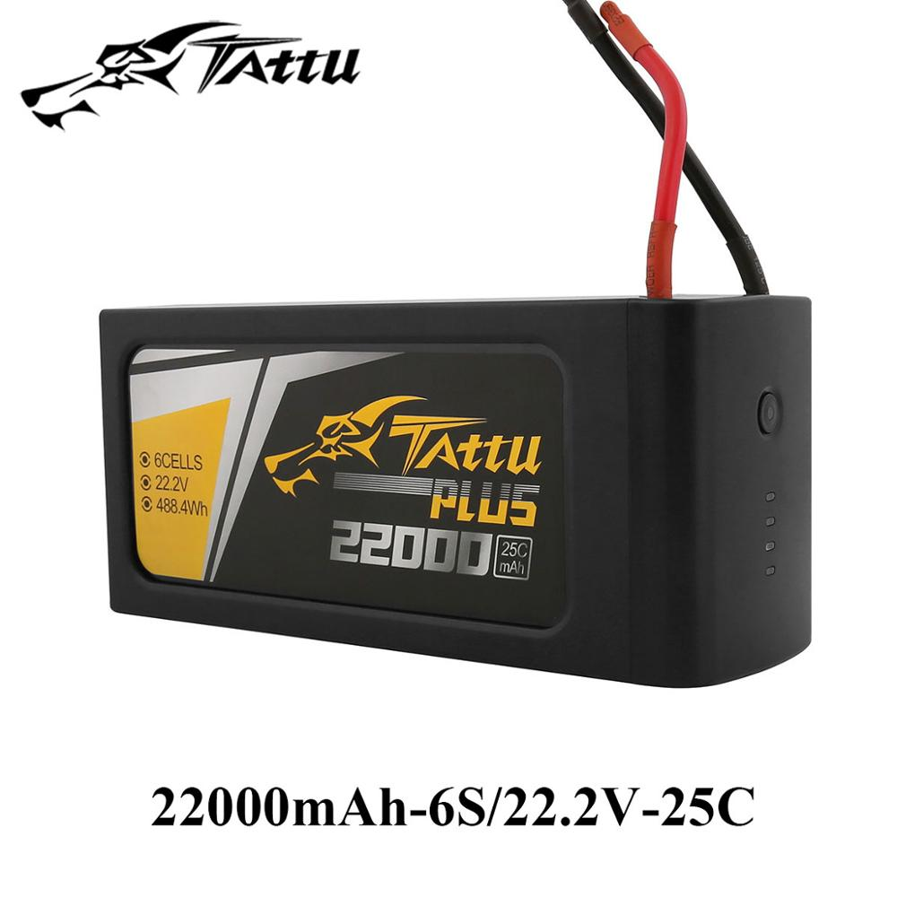 TATTU 22000 mah 25C Batterie Lipo 6 s 22.2 v 22.8 v Più tteria Smart RC Batteria per S800 S900 s1000 UAV Quad Helicpter Drone