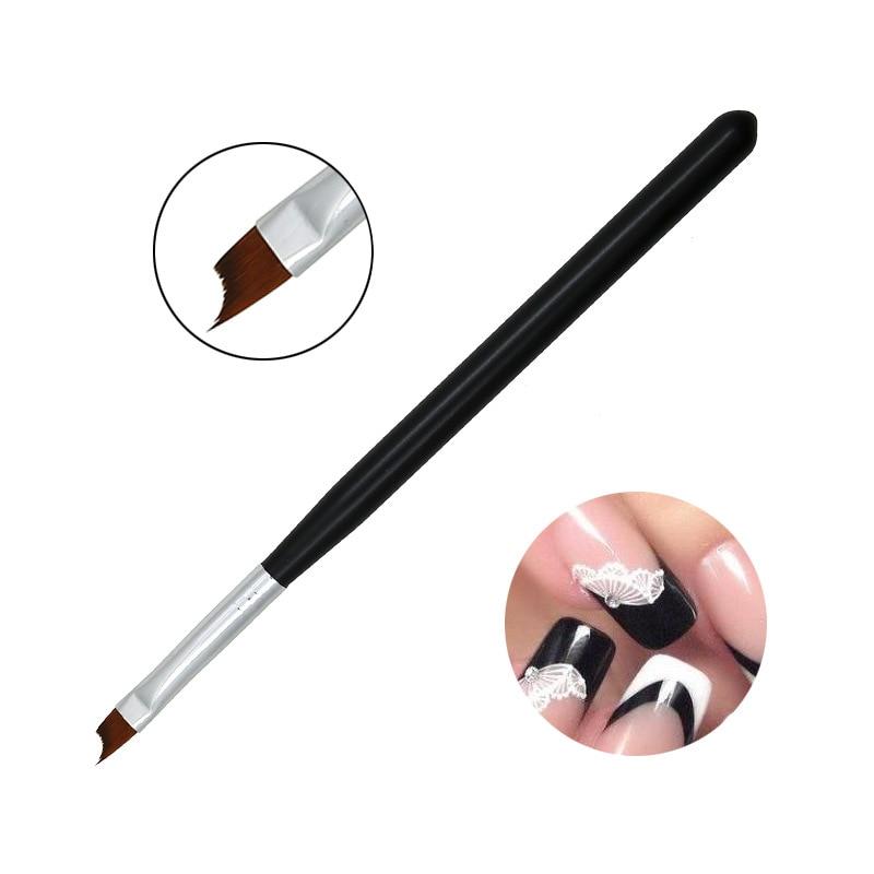 Nail Pen Half Pen French Pen Black Oblique 8 # Crescent Pen Nail Painted Petal Brush