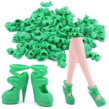 Saleaman Toy chaussures vert haute chaussures talons hauts fit 11 pouces 11 12 mixte bébé Pour Barbie Doll Accessoire
