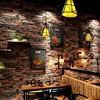 Vintage 3d Stereo Wallpaper Rolls Nostalgic Stone Tiles Brick Wallpaper Cafe Bar Restaurant Background Decor Red