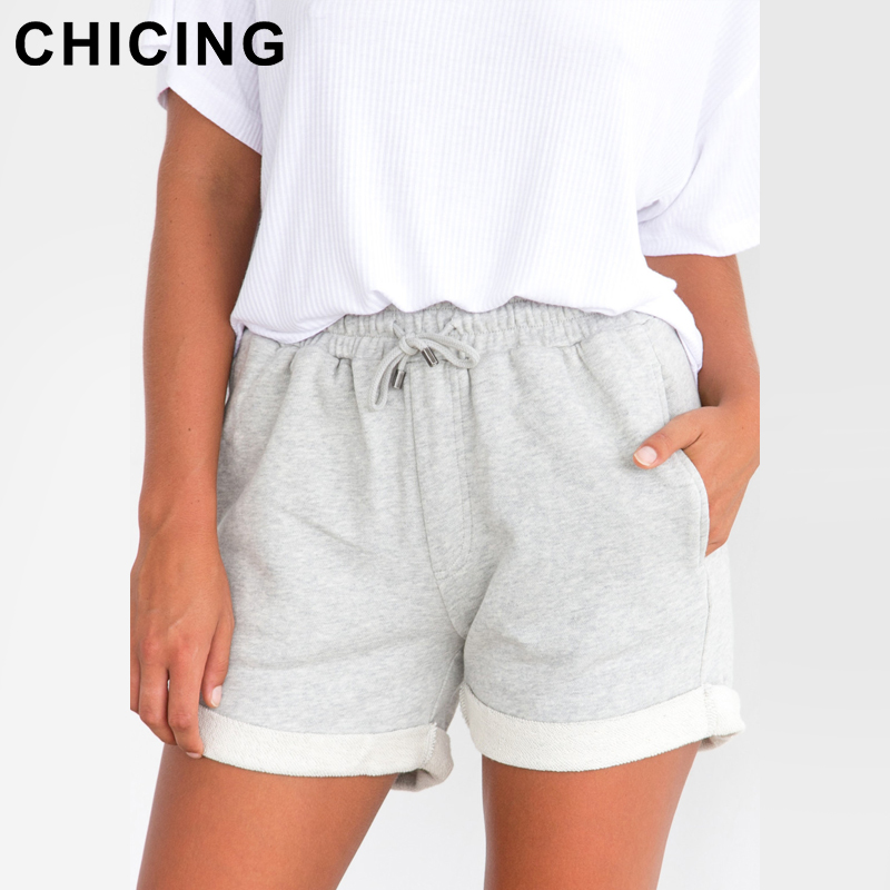 CHICING 2018 Spring Summer Vacation Women Fashion Hot   Shorts   New Arrival High Solid Regular Beach Sexy   Shorts   Female C1803042