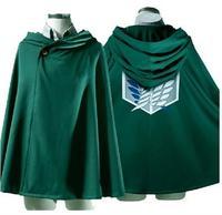 NEW Cool USA Cosplay Attack On Titan Anime Shingeki No Kyojin Green Cloak Cape Clothes