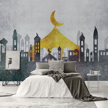 large size 3D Imitation marble mural TV background wall canvas wallpaper Living room bedroom Muslim covering custom made