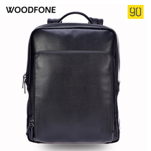 Xiaomi 90 Points Men Backpack High Quality PU Leather 14 Inches Casual Travel Laptop Rucksack Fashion Business School Bag Black