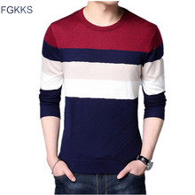FGKKS Fashion Brand Men Sweaters 2018 Autumn Winter Mens Casual Slim Fit Casual Sweaters Male Knitted Pullovers Clothing