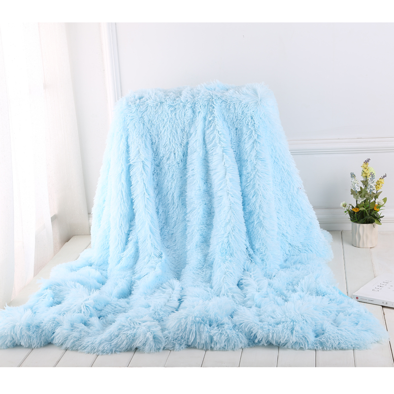 KIDS TEDDY SHERPA BLUE THROW