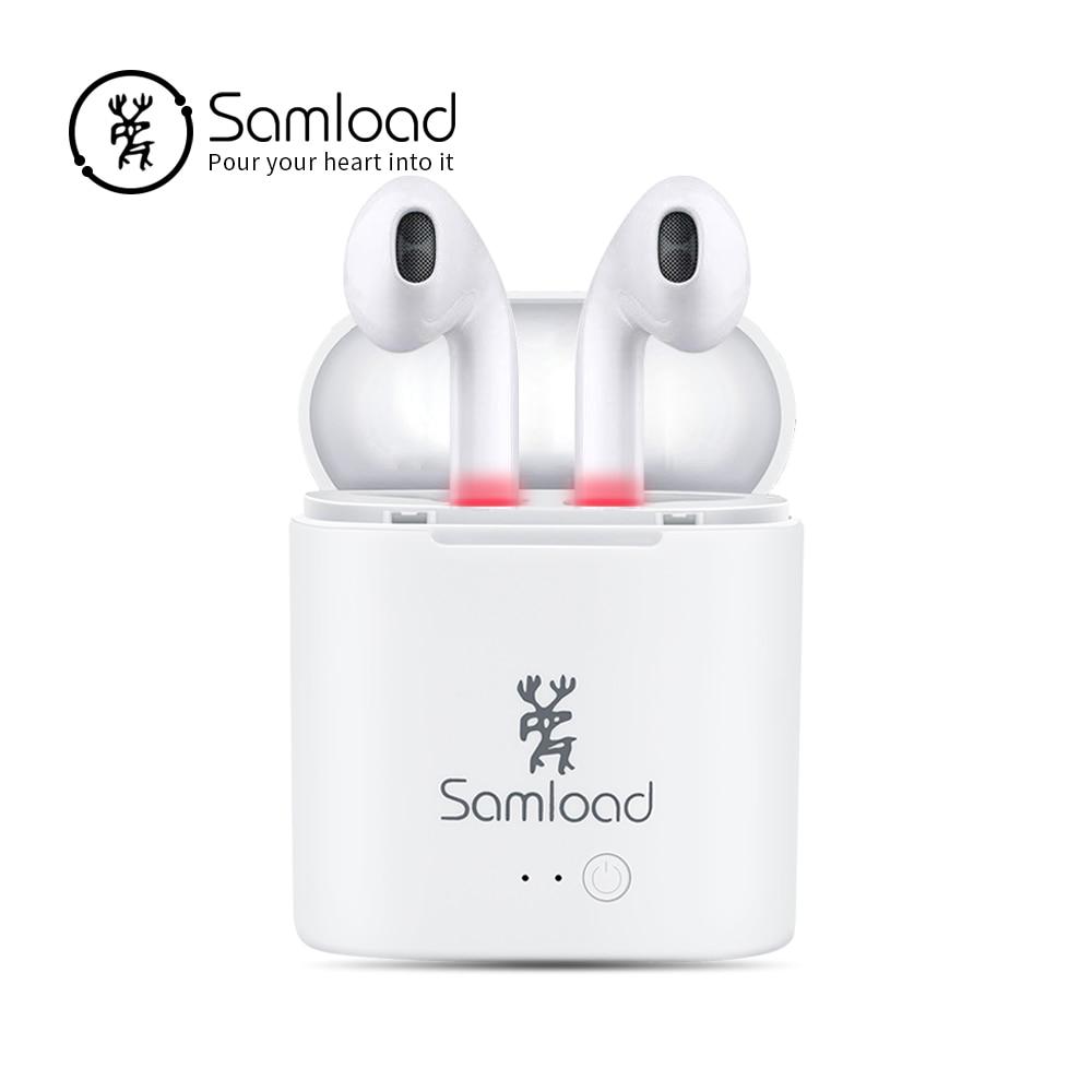 Samload Auricolari Senza Fili di Sport Stereo in-ear Sweatproof Cuffia con box di ricarica Per La Mela Auricolare iPhone6s 7 8 Xiaomi Sony