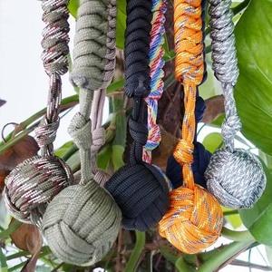 Image 3 - Puño de mono protectora de seguridad Multicolor para exteriores, rodamiento de bolas de acero, cordón de defensa personal, llavero de supervivencia, llavero de escalada
