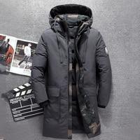 2018 Winter long duck down jacket men brand Tace & Shark camouflage thick men's down jacket warm windbreaker long coat for men