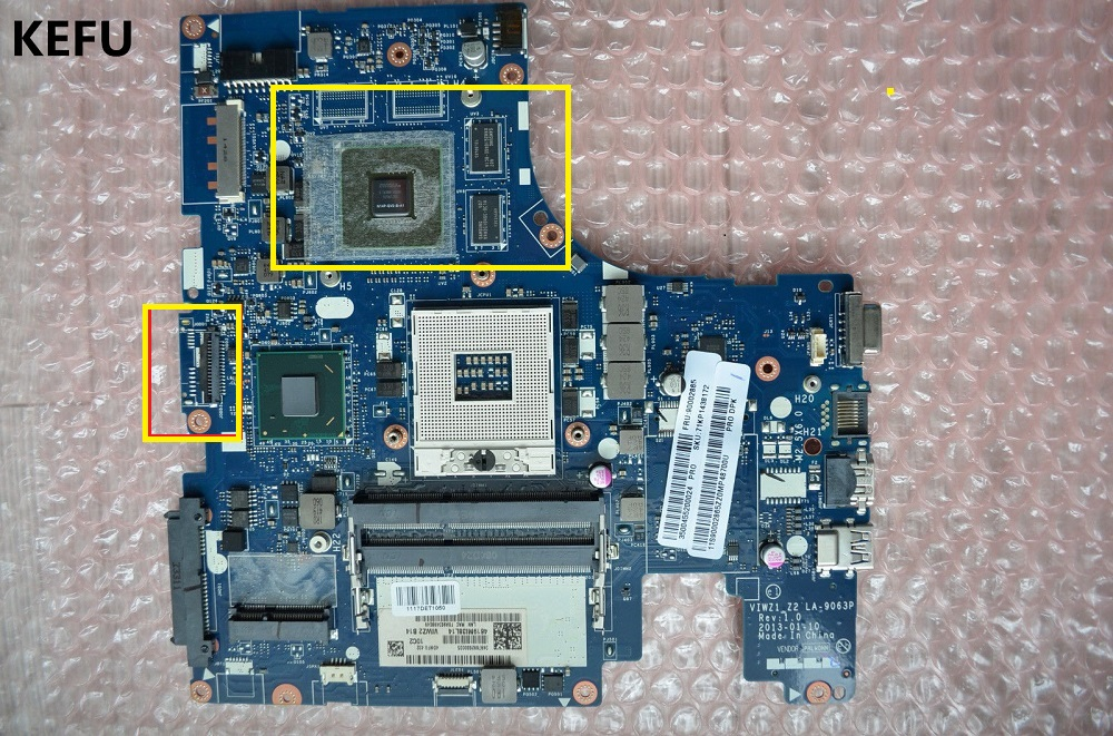 KEFU VIWZ1 Z2 LA 9063P Main Board For Lenovo FOR IdeaPad Z500 Notebook PC Motherboard 15
