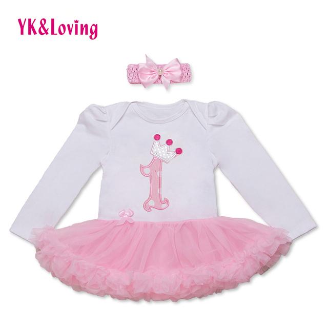 Criança Princesa Vestidos Da Menina Define 2 pcs Outono Luva Cheia de Roupas para Meninas 2017 Crianças Tutu Romper Infantil Meninas Traje RD149L