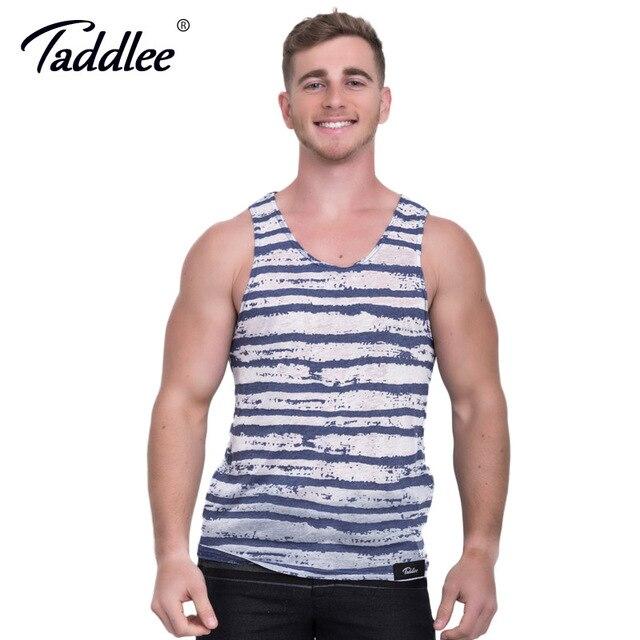 Taddlee marca dos homens top tees camisas sleevess cotton casual fashion parte superior do tanque de musculação camisinhas macio vestuário sólidos elegante
