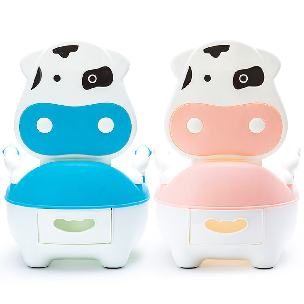 Baby Jongens Meisjes Training Potje Toiletbril Mooie Leuke Koe Potje Stoel Voor Jongens En Meisjes Peuter Potty Training Wc