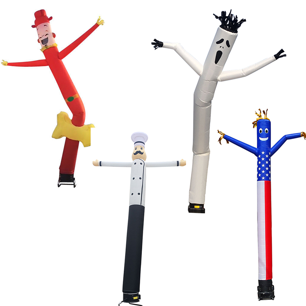 Inflatable Sky Dancer Dancing Tube Man Ghost Chef Outdoor Sky Dancing Man For Advertising Celebration Without Fan Blower цена