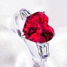 YaYI, модное женское Ювелирное кольцо, сердце, красный циркон, CZ, серебряный цвет, обручальные кольца, свадебные кольца, вечерние кольца, подарок
