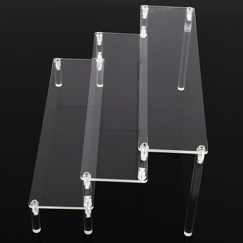 Image 4 - 3 Layer Acrylic Cosmetics Storage Rack Detachable Jewelry Sundries Holder Toys Perfume Display Stand Transparent Storage Holders-in Storage Holders & Racks from Home & Garden