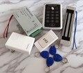 Sistema de Control de Acceso DIY Kit Lleno 125 KHz Rfid + $ NUMBER LIBRAS Cerradura Magnética + fuente de Alimentación + Exit botón