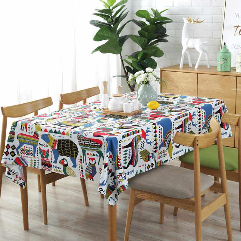 Рождественский лось медведь мультяшный стол Ткань Детская комната украшения