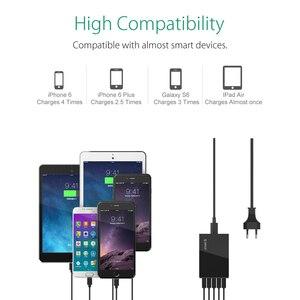 Image 5 - ORICO CSL 5U 5V2.4A EU US Plug Desktop Charger Adapter 8A40W 5 USB Port Travel Charger for iPhone 6s 7 Xiaomi Samsung HTC  Black