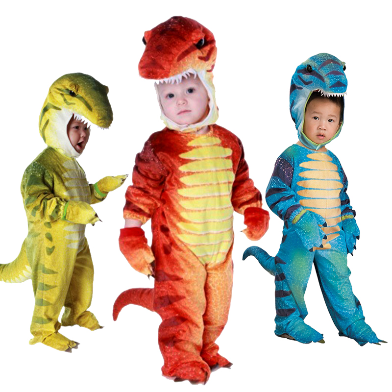 3 Colors Cosplay Costume With High Quality Tyrannosaurus Rex Cosplay Design For Children Boys Kids Performance