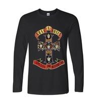 2017 Teenage Youth Funny Guns N Roses Led Zeppelin Funny Long Sleeve T Shirt Men