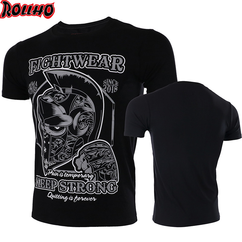 Boxing MMA Gym Kickboxing Muay Thai BoxingT Shirt STRONG ROLLHO Men Training Breathable MMA Shorts Fight Pant Jersey