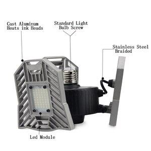 Image 3 - 60W 144 LEDs Deformable Lamp Garage Light E27 Led Corn Bulb High Intensity Parking Warehouse Basement Industrial Home Lighting