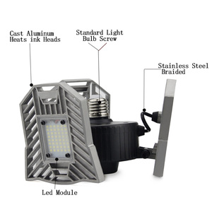 Image 3 - 60w 144 leds deformable lâmpada da garagem luz e27 led milho lâmpada de alta intensidade estacionamento armazém porão casa industrial iluminação