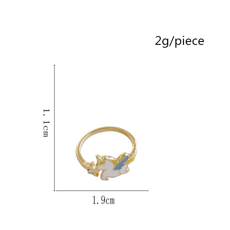 Japan and South Korea Creative Planet Enamel Moon Star Rabbit Cartoon  Unicorn Joint Ring Fashion Girl Student Jewelry Accessorie-in Rings from  Jewelry