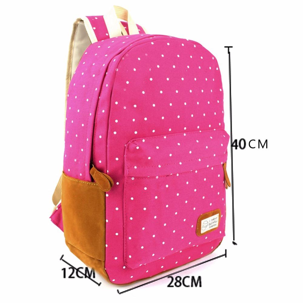 6 Colors Canvas Schoolbag backpack for Teenager Girls Mochila Female ... 4d513d6b07000