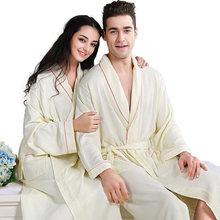 Бамбуковый банный халат из волокна Мужская Ночная рубашка xl