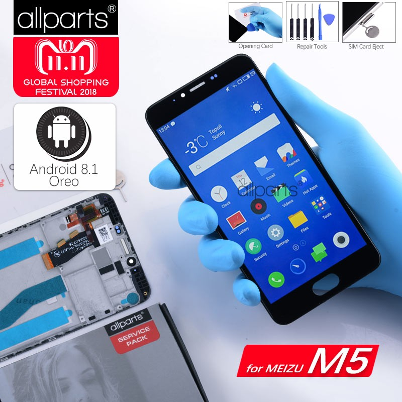 5,2 Original LCD Für MEIZU M5 Display Touchscreen Digitizer mit Rahmen M611H Display Modul Für MEIZU M5 LCD Ersatz