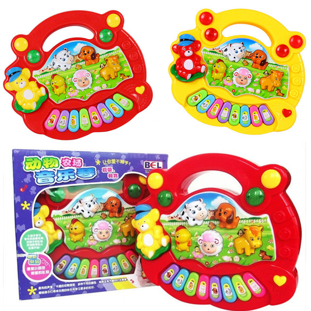 Baby Kids Musical Piano Toys Learning Animal Farm Developmental Educational Music Toys Musical Instruments For Children