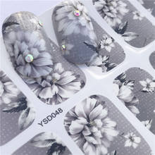 LCJ Nail Sticker Fantasy Colorful Designs Water Transfer Decals Sets Flower/Feather Nail Art Decor Beauty Tips(China)