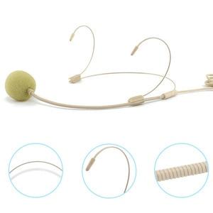 Image 5 - المهنية سماعة الرأس 3.5 مللي متر السلكية ميكروفون مكافحة التدخل واضح الحساسة UHF عالية الدقة
