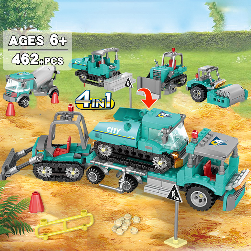 4-in1-City-Engineering-Construction-Excavator-Vehicles-Truck-Building-Blocks-Compatible-Technic-City-Bricks-Toys-For (2)