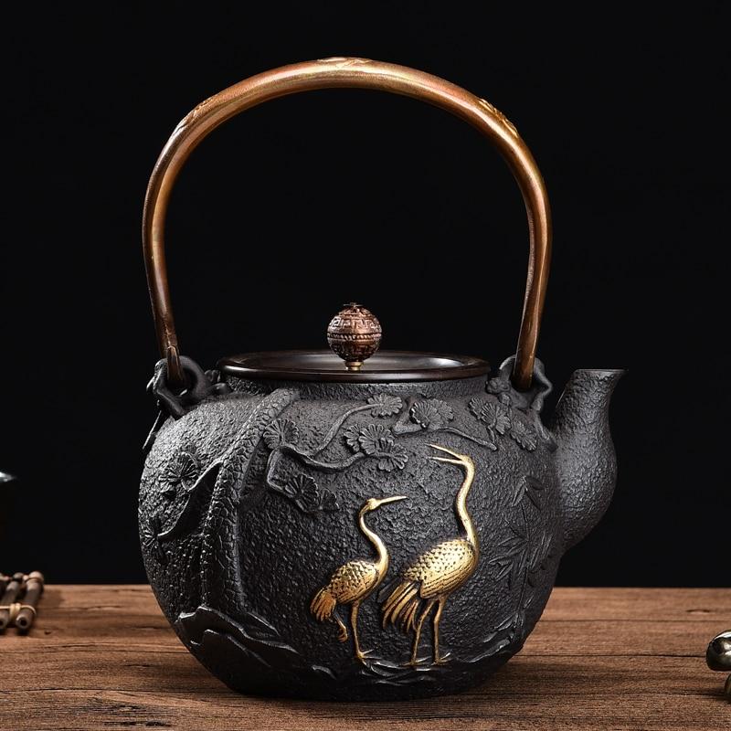 1300ml 1.3L  NEW Japanese Teapot Cast Iron Tetsubin Tea Pot Authentic Cast Iron Teapot Set Tea Pot Tetsubin Kettle kettle pot kettle tea kettle cast iron - title=