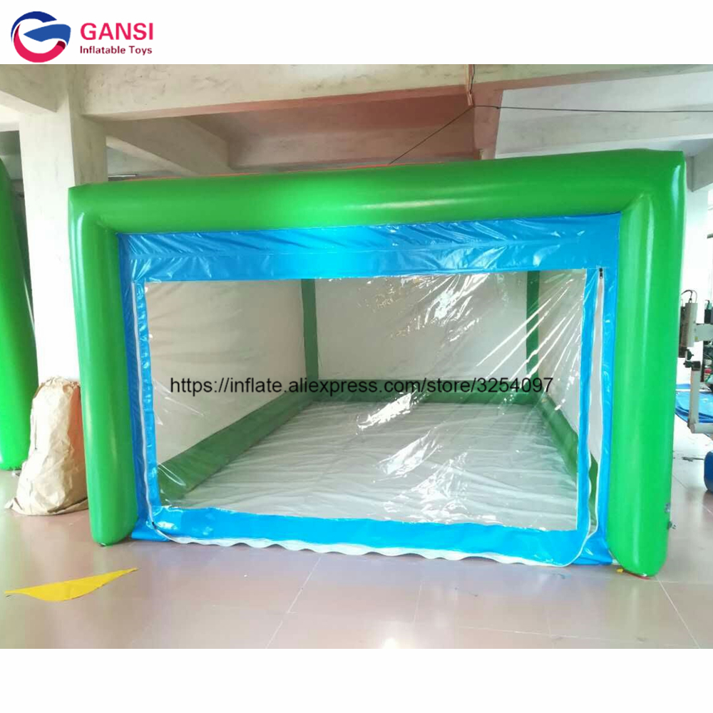 5*3*2.3m colorful inflatable car capsule shelter tent,cheap inflatable garage tent with free pump funny summer inflatable water games inflatable bounce water slide with stairs and blowers