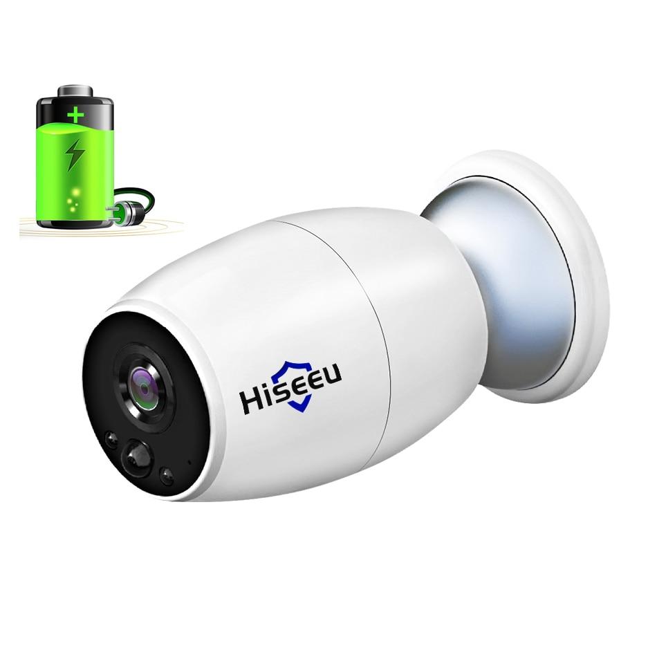 Hiseeu wifi IP caméra vidéo surveillance batterie rechargeable 1080 P Full HD En Plein Air Intérieur de Sécurité WiFi Caméra IP Large Vue