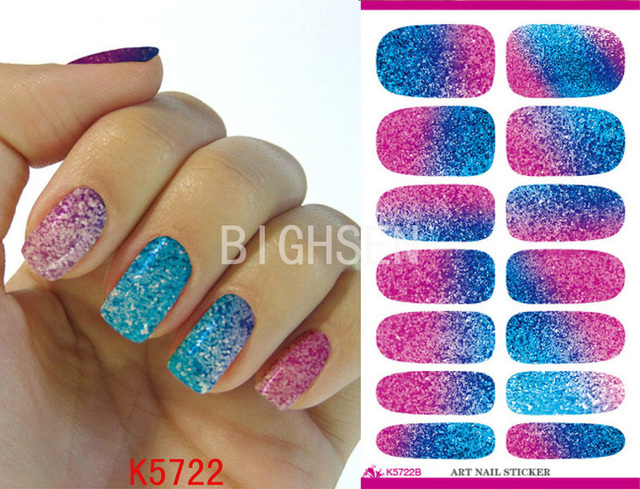 Bright Purple Full Cover Water Sticker For Nail Art Materials For