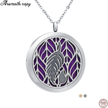 Fashion Essential Oil Diffuser Locket Necklaces Aromatherapy Car Stainless Steel